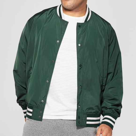 Goodfellow & Co Other - Men's Varsity Bomber Jacket, Green